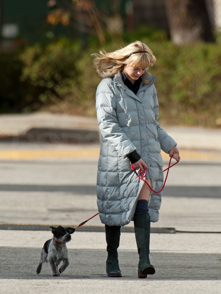 Emma Stone Takes a Time Out From Spider-Man to Walk Her Dog