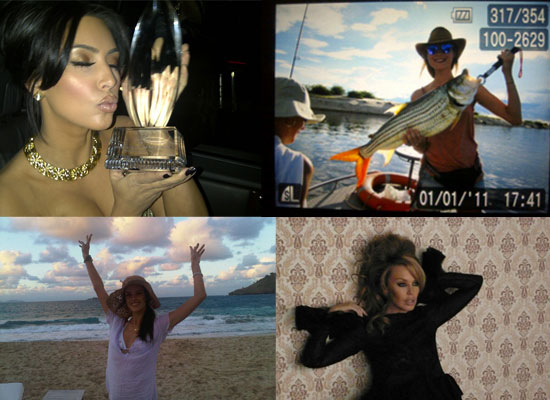 TwitPic Fun From Alessandra Ambrosio, Kim Kardashian, Kylie Minogue and Henry Holland!