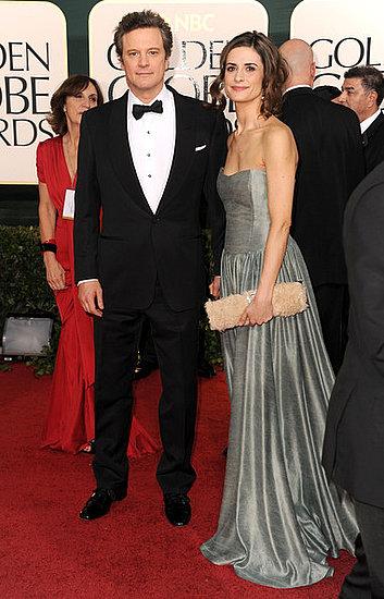 Colin Firth and wife Livia Giuggioli(2011 Golden Globes)