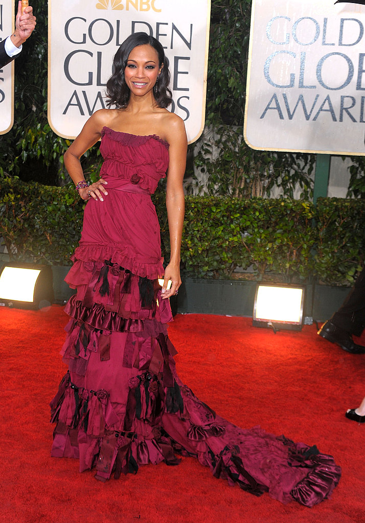Zoe Saldana in Louis Vuitton in 2010.