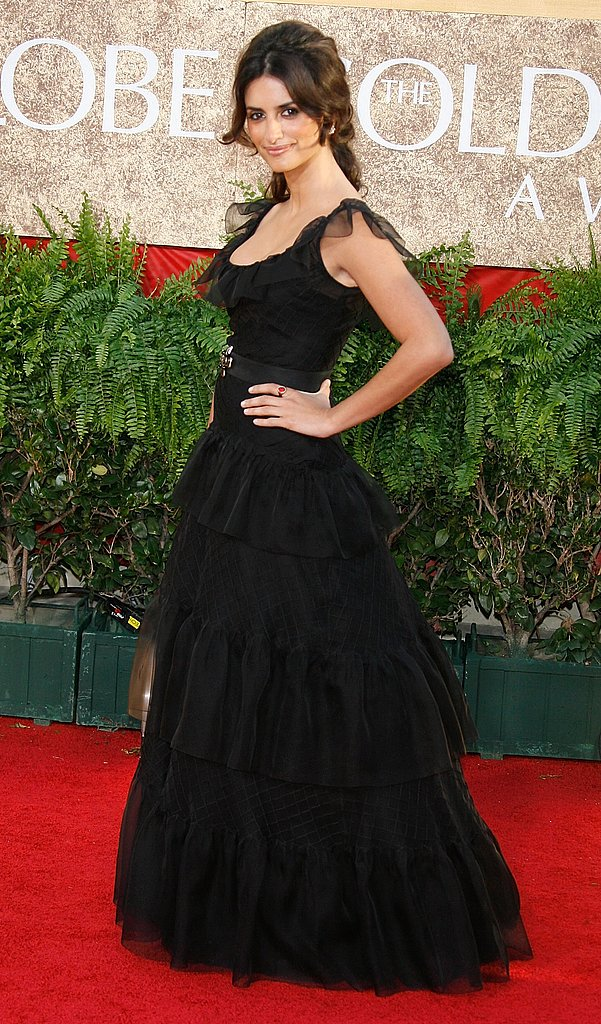 Penelope Cruz in Chanel in 2007.