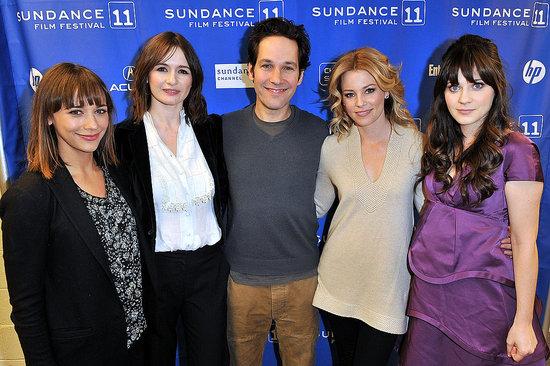 Pictures of Zooey Deschanel, Elizabeth Banks, Paul Rudd at My Idiot Brother Sundance Premiere 2011-01-24 01:45:00