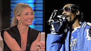 Video of Cameron Diaz on Lopez Tonight Talking About Buying Weed From Snoop Dogg During High School