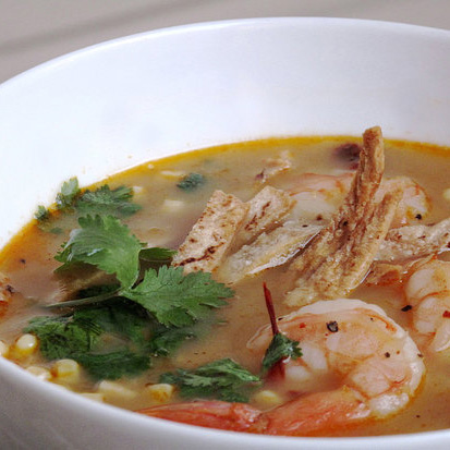 Fast, Easy, Healthy Seafood Tortilla Soup