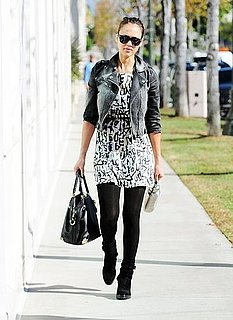 Pictures of Jessica Alba Wearing Balenciaga and Viktor and Rolph in LA