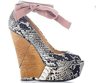 The Covet List: Loving Lanvin's Resort Snake Peep-Toe Wedge