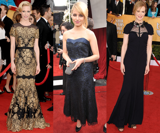 Celebrities Don the Lace Trend on the Red Carpet at SAG Awards 2011