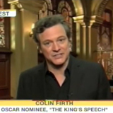 Colin Firth Reacts to His Oscar Nomination on The Today Show