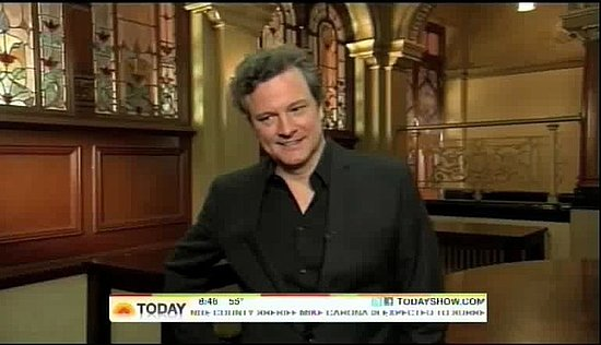 Colin Firth's Best Actor Oscar Nomination Reaction on The Today Show