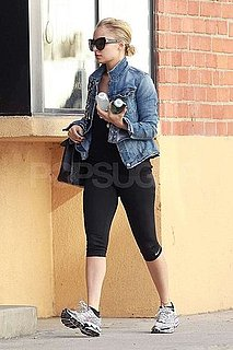 Pictures of Nicole Richie Wearing a Jean Jacket to the Gym in LA
