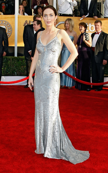 Emily Blunt chose a slinky, silver sequined gown in 2009.