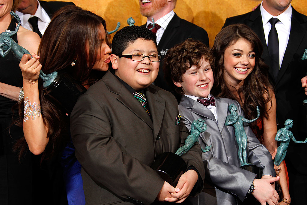 Colin, Natalie, Christian, the Modern Family Cast, and More SAG Winners Celebrate in the Press Room