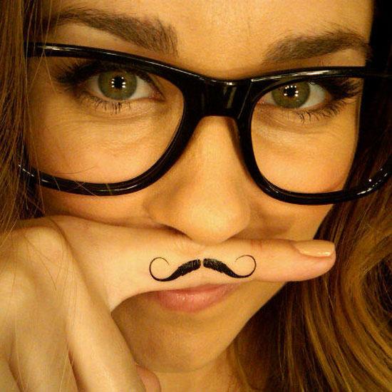 Lauren mustache you a question. Source: Twitter user laurenconrad