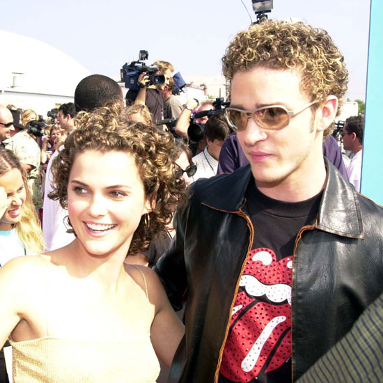 Keri Russell and Justin Timberlake had similar hairstyles at the August 2000 Teen Choice Awards in LA.