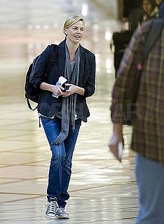 Pictures of Charlize Theron at LAX