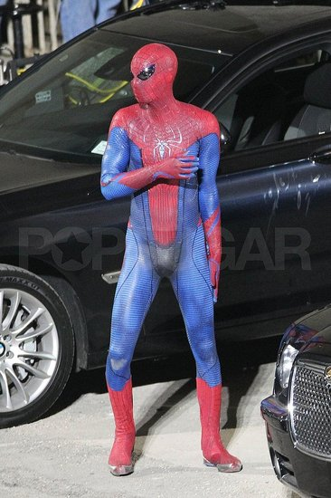 Pictures of Spider-Man Andrew Garfield in His Tight Costume