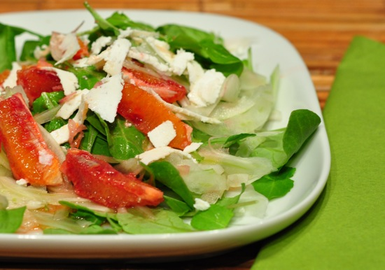 Arugula Salad With Blood Oranges an