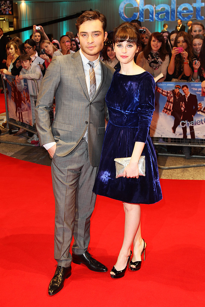 Ed Westwick at the World Premiere of Chalet Girl