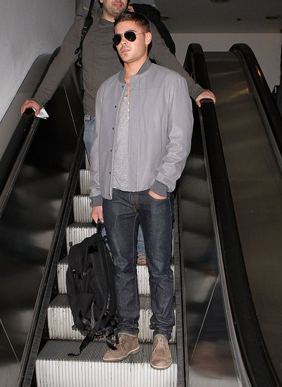 Pictures of Zac Efron Signing Autographs at the Airport