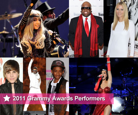 The Amazing Lineup of 2011 Grammy Award Performers Including Cee-Lo Green, Gwyneth Paltrow, Justin Bieber