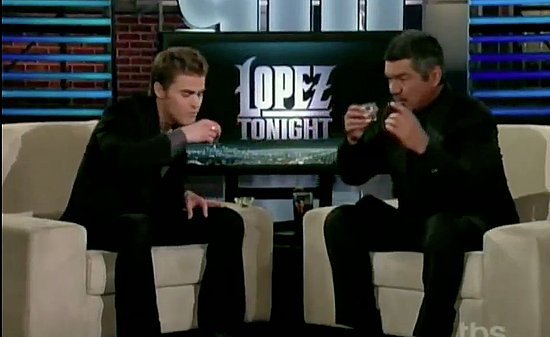 Paul Wesley on Lopez Tonight Interview Video
