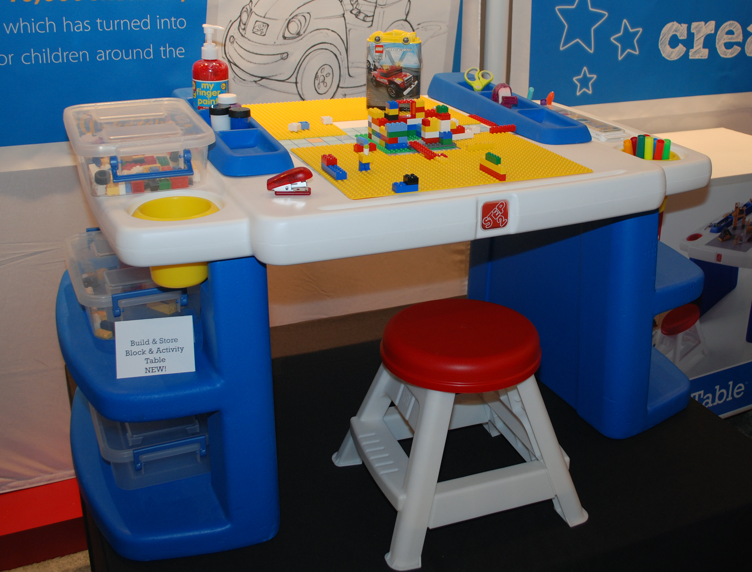 Build and Store Art and Activity Table