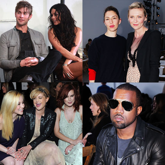 Pictures of Celebrities at New York Fashion Week Fall 2011 Vanessa Hudgens with Chace Crawford, Kelly Osbourne and Kellie Pickle