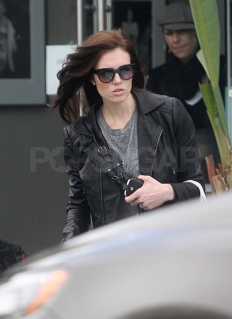 Mandy Moore Gets Untangled at the Salon