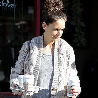 Pictures of Katie Holmes Picking Up Starbucks in Vancouver