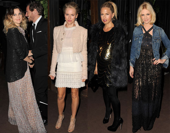 Pictures of Drew Barrymore, Rachel Zoe, Emma Stone, Naomi Watts, January Jones at Chanel Oscar Party