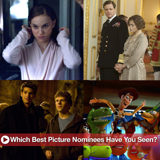 2011 Oscar Best Picture Nominees Viewership Poll
