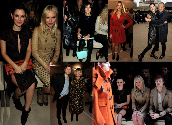 Celebrities at Burberry Show London Fashion Week Including Alexa Chung, Rachel Bilson and Anna Wintour