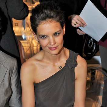 Pictures of Katie Holmes With Her Mother at the 2011 Fall MaxMara Show During Milan Fashion Week