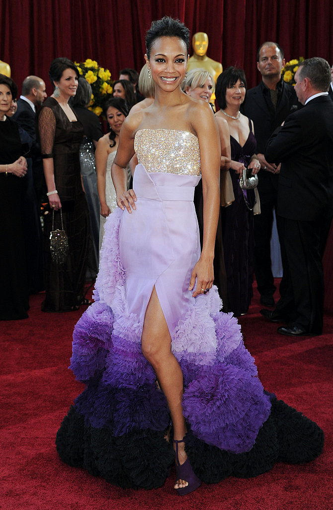 Zoe Saldana at the 2010 Academy Awards