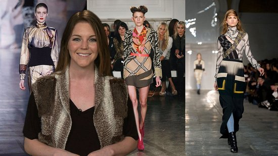 Graphic Prints at Matthew Williamson, Giles, Christopher Kane at Fall 2011 London Fashion Week!