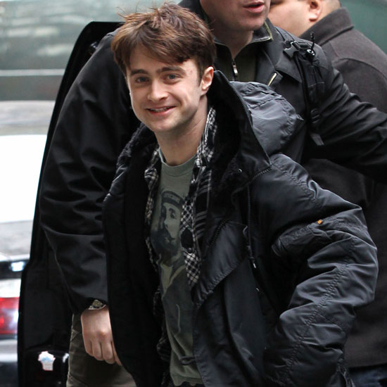 Pictures of Daniel Radcliffe Rehearsing on Broadway For How To Succeed In Business Without Really Trying