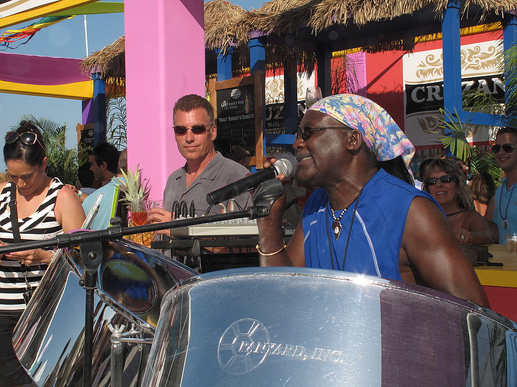 The Cruzan rum tents had a live reggae band to rock to while drinking and dancing in the sand.