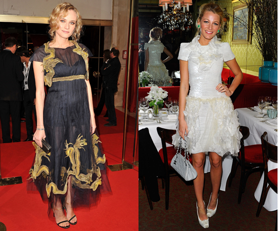Blake Lively and Diane Kruger Choose Dramatic Ballet-Inspired Dresses from Chanel and Dior