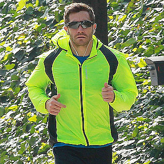 Pictures of Jake Gyllenhaal Running With His Dog Atticus