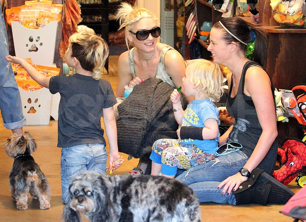 Gwen Has a Puppy Playdate With Kingston and Zuma During a Weekend With the Boys