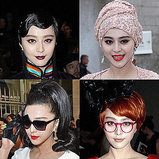 Bingbing Fan Wears Matching Designer Looks on the Paris Fashion Week Front Rows