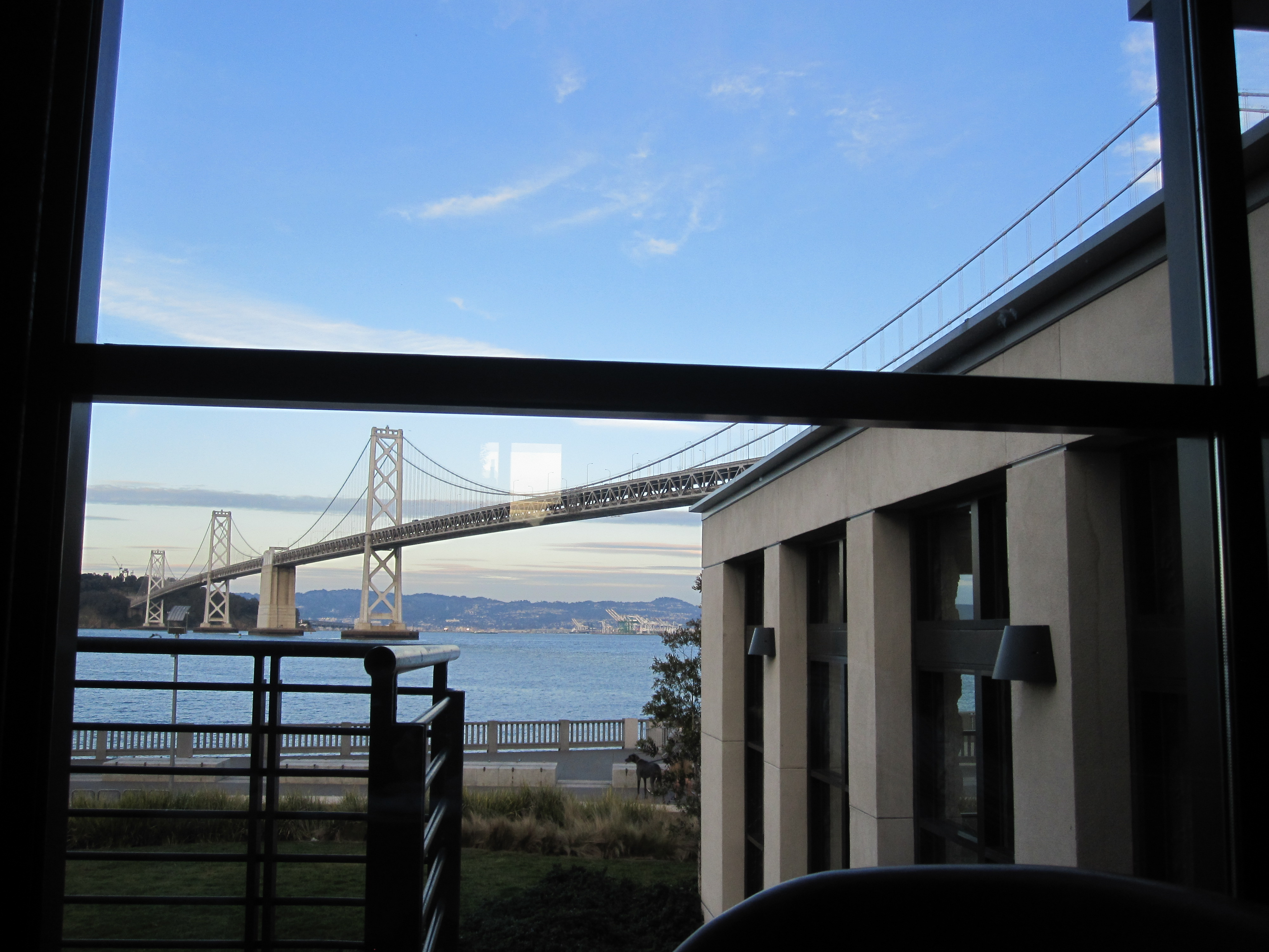 Epic is located on the Embarcadero and has a gorgegous view of the Bay Bridge.