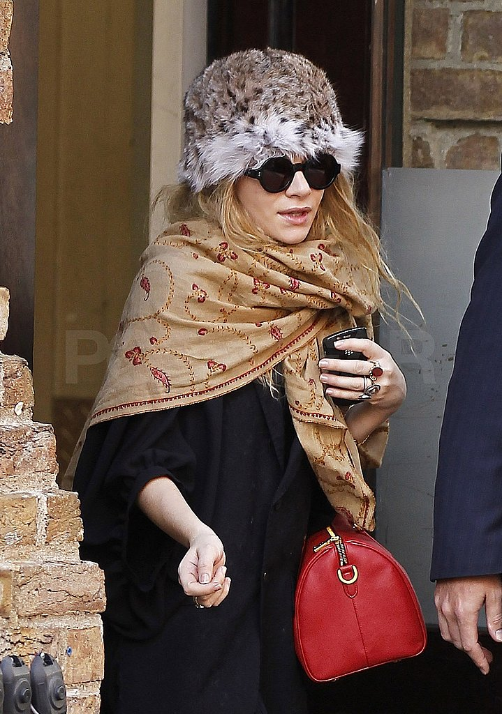 Ashley Olsen Tips a Feathered Hat to the Latest Trends