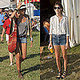Each rocked cutoffs at Glastonbury.