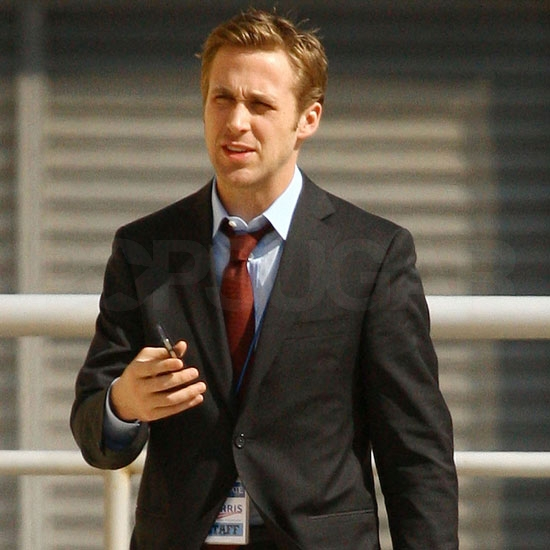 Pictures of Ryan Gosling on the Set of The Ides of March