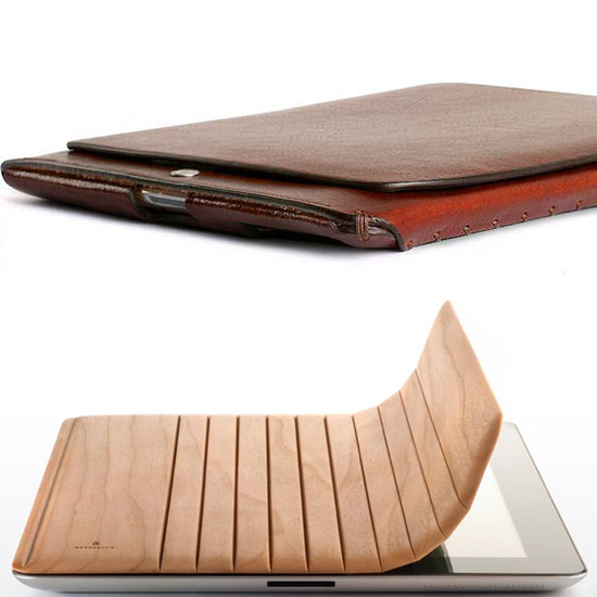 Wood and Leather iPad 2 Cases