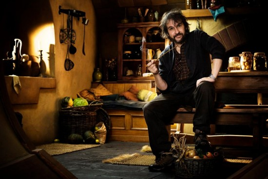 Pictures of Peter Jackson on the Set of The Hobbit