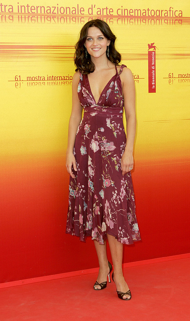 Reese Witherspoon in Floral Dress at 2004 Venice Film Festival