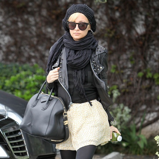 Nicole Richie Pairs Polka Dots With Givenchy For a Day at the Salon