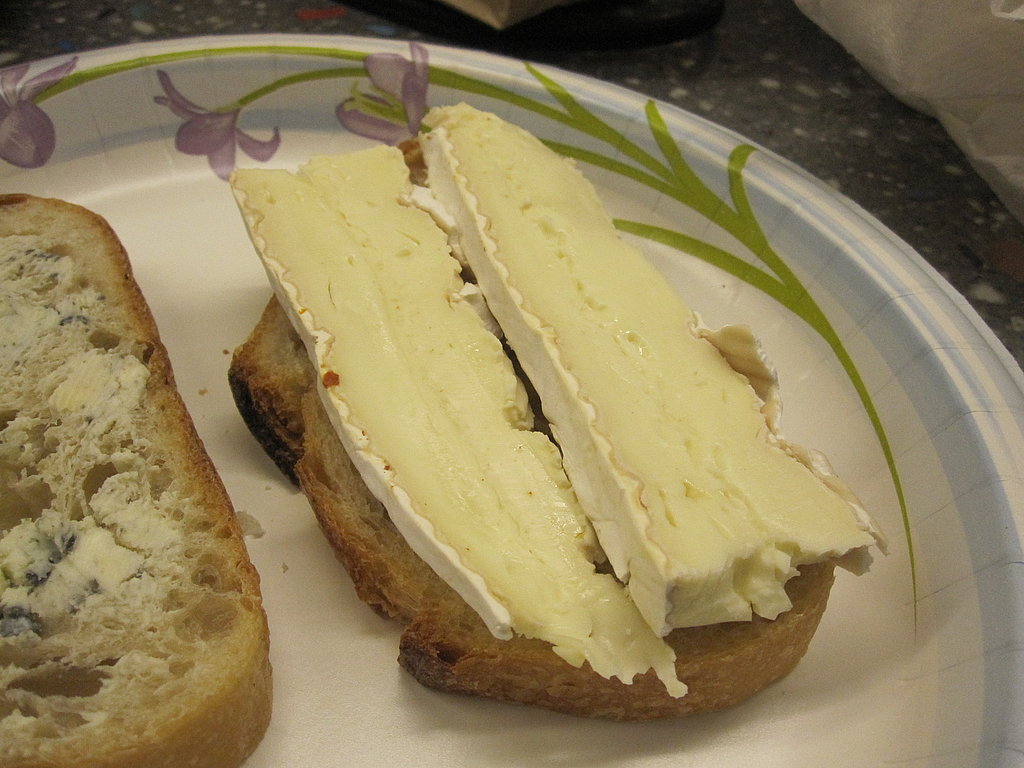 Brie, Mozzarella, and Pear With Blue Cheese Butter